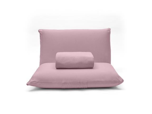 Jogo de Cama Casal Buettner Basic Liso Rose Blush 3 Peças - 3