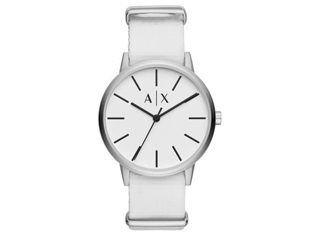 Relógio Armani Exchange Masculino Cayde Branco e Prata AX2713/0BN
