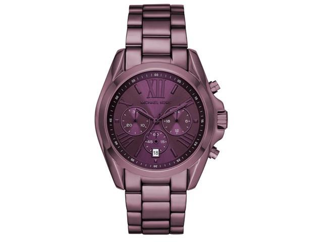 Relógio Michael Kors Feminino Bradshaw Roxo MK6721/1NN
