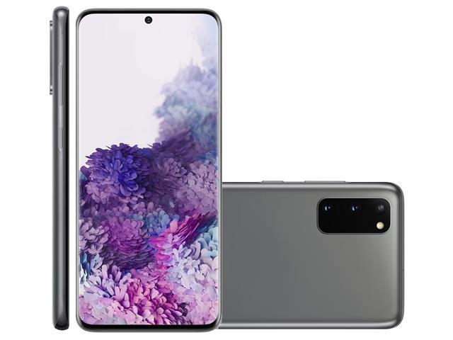 """Smartphone Samsung Galaxy S20 128GB Tela 6.2"""" 8GB RAM 64+12+12MP Cinza"""