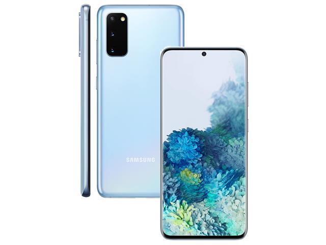 "Smartphone Samsung Galaxy S20 128GB Tela 6.2"" 8GB RAM 64+12+12MP Azul - 1"