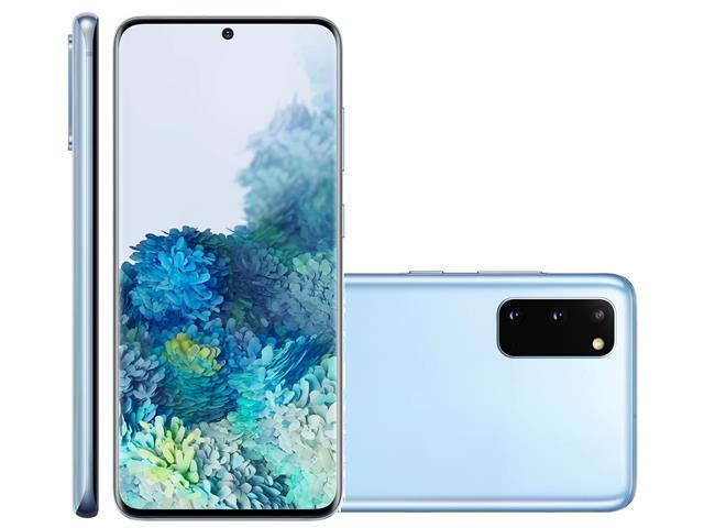 "Smartphone Samsung Galaxy S20 128GB Tela 6.2"" 8GB RAM 64+12+12MP Azul"