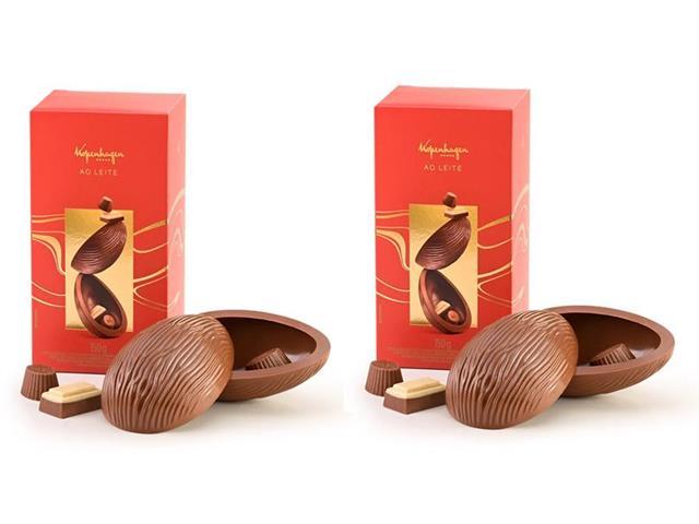Combo 2 Ovos de Páscoa Kopenhagen Chocolate ao Leite 150G