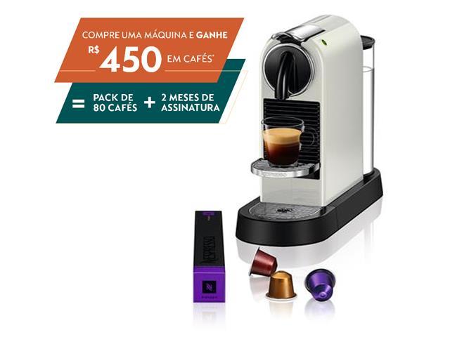 Cafeteira Nespresso Automática CitiZ D113 Kit Boas Vindas Branca 110V
