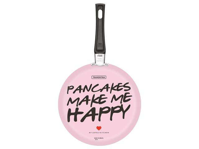 Panquequeira Tramontina My Lovely Kitchen Antiaderente Rosa 600ml 22CM - 1