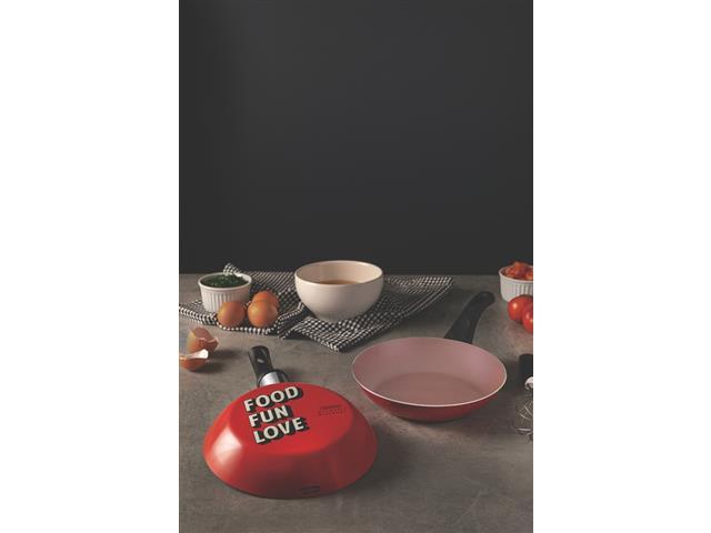 Frigideira Tramontina My Lovely Kitchen Antiaderente Vermelha 20CM - 3