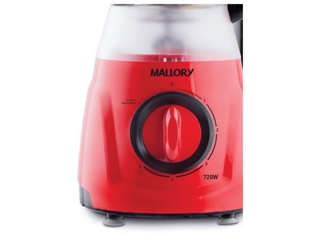 Liquidificador Mallory Magnum Vermelho 720W 110V - 1
