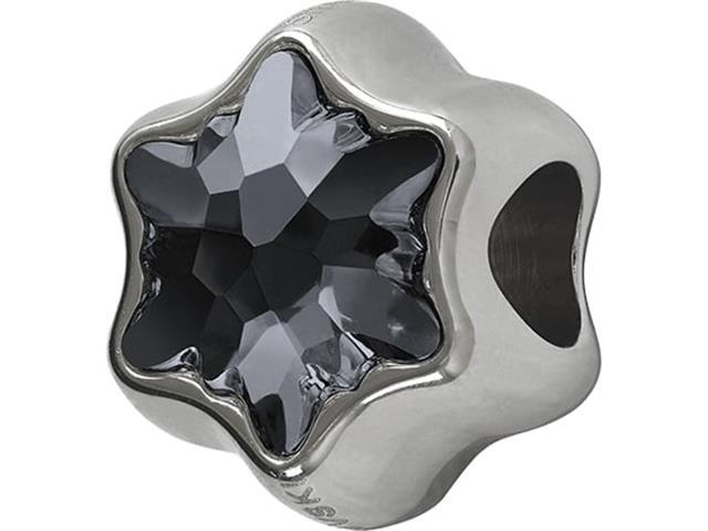 Becharmed Pavé Fino Decorado com Cristais da Swarovski® Silver Night