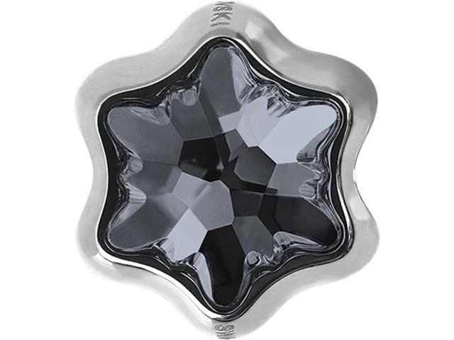 Becharmed Pavé Fino Decorado com Cristais da Swarovski® Silver Night - 1