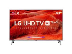 "Smart TV LED 43"" LG UHD 4K ThinQ AI TV HDR WebOS 4.5 Wi-Fi 4HDMI 2USB"
