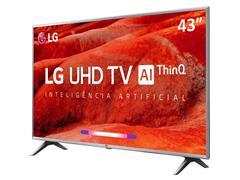 "Smart TV LED 43"" LG UHD 4K ThinQ AI TV HDR WebOS 4.5 Wi-Fi 4HDMI 2USB - 4"