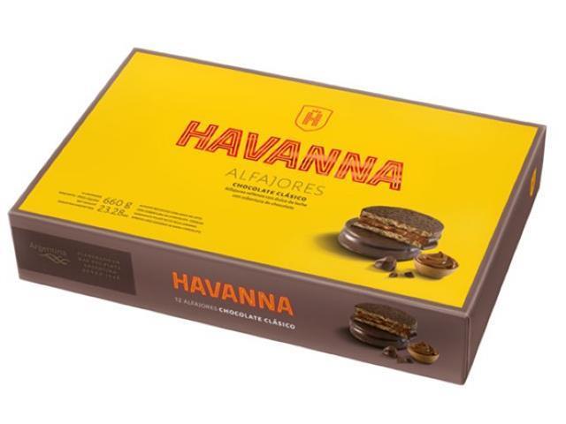 Combo 12 Caixas de Alfajores de Chocolate Havanna 12 Unidades