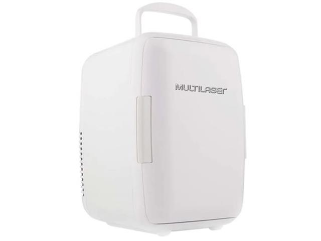 Mini Geladeira Portátil Multilaser Branca 6 Litros Trivolt 12/110/220V
