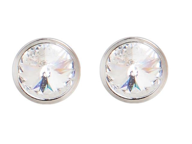 Brinco DSE Twin Solitário Prata decorado com cristais da Swarovski®