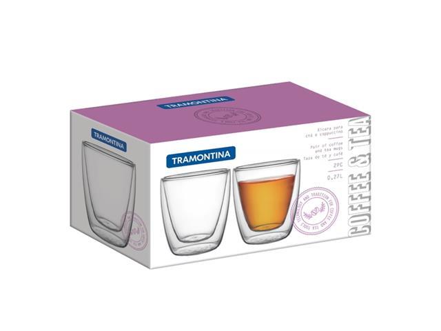 Conjunto de Xícaras para Chá e Café Tramontina em Vidro 2 Peças - 1