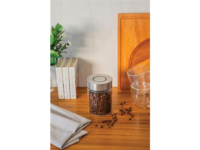 Pote de Vidro Tramontina Purezza com Tampa de Aço Inox 10 cm 700ML - 5