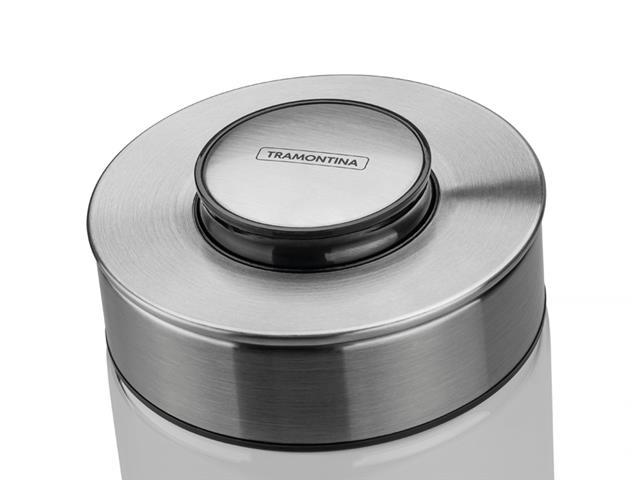 Pote de Vidro Tramontina Purezza com Tampa de Aço Inox 10 cm 700ML - 2