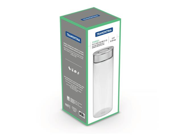 Pote de Vidro Tramontina Purezza com Tampa de Aço Inox 10cm 1,8 Litros - 4