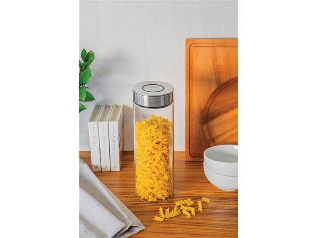 Pote de Vidro Tramontina Purezza com Tampa de Aço Inox 10cm 1,8 Litros - 6