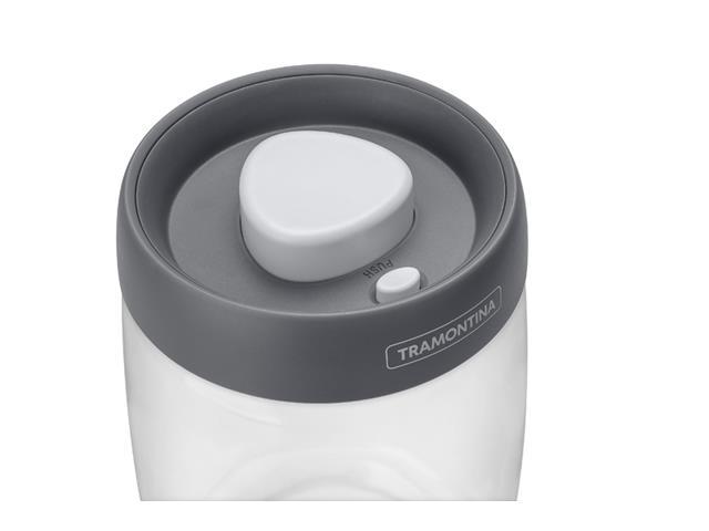 Jogo de Potes de Vidro Tramontina Purezza Tampa Plástica 3 Peças - 1