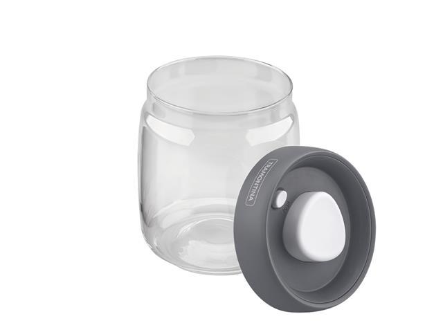 Jogo de Potes de Vidro Tramontina Purezza Tampa Plástica 3 Peças - 2