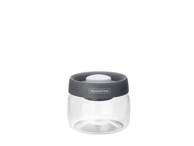 Pote de Vidro Trampontina Purezza Tampa Plástica a Vácuo 400ML