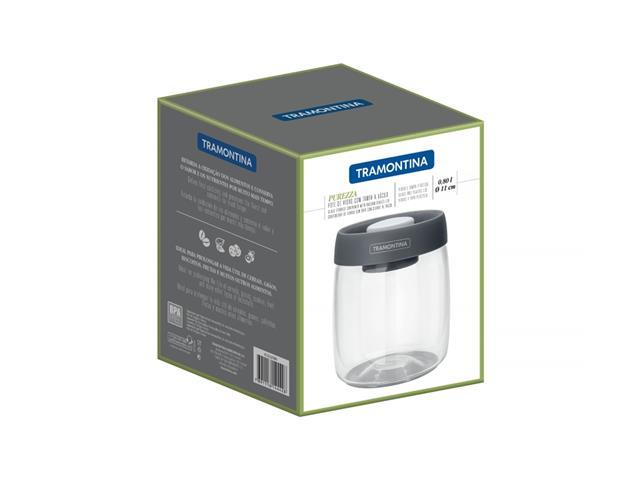Pote de Vidro Trampontina Purezza Tampa Plástica a Vácuo 800ML - 5