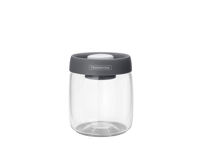 Pote de Vidro Trampontina Purezza Tampa Plástica a Vácuo 800ML