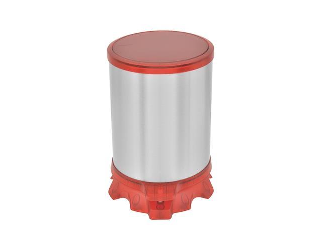 Lixeira Inox Tramontina Sofie Red com Pedal 5 Litros - 1