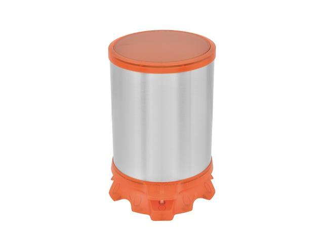 Lixeira Inox Tramontina Sofie Orange com Pedal 5 Litros - 1