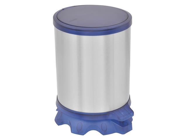 Lixeira Inox Tramontina Sofie Blue com Pedal 5 Litros