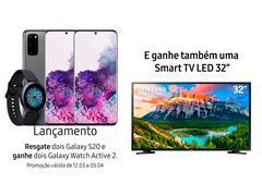 """Resgate no Lançamento 2 Samsung Galaxy S20 Cinza e GANHE + 1 TV 32"""""""