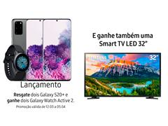 """Resgate no Lançamento 2 Samsung Galaxy S20+ Cinza e GANHE + 1 TV 32"""" - 0"""