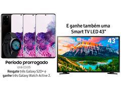 """Resgate no Lançamento 3 Samsung Galaxy S20+ Preto e GANHE + 1 TV 43"""""""
