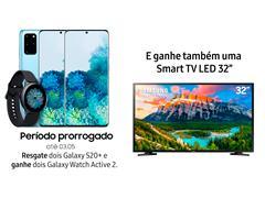 """Resgate no Lançamento 2 Samsung Galaxy S20+ Azul e GANHE + 1 TV 32"""""""
