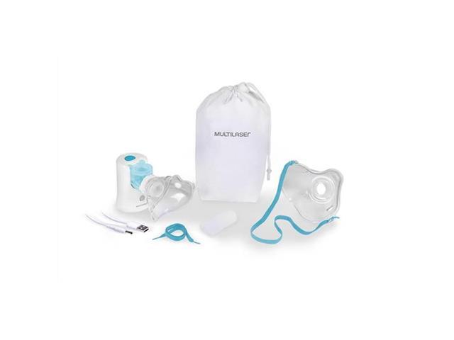 Inalador Portátil Multilaser Mesh Adulto/Infantil Recarregável Branco - 3