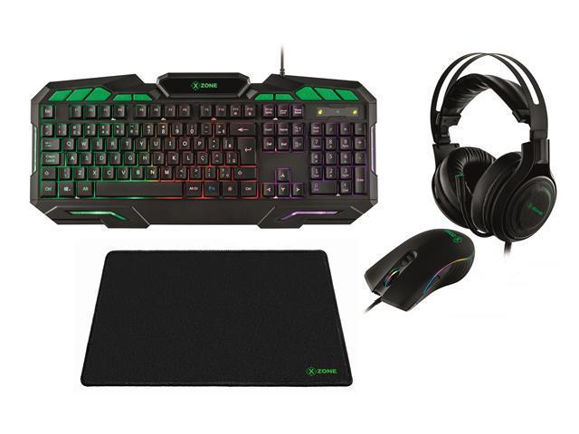 Combo Gamer XZONE Headset Teclado Mouse e Mousepad