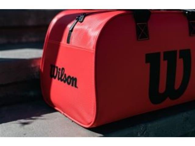 Bolsa Esportiva Wilson Duffel Pequena Vermelha - 4