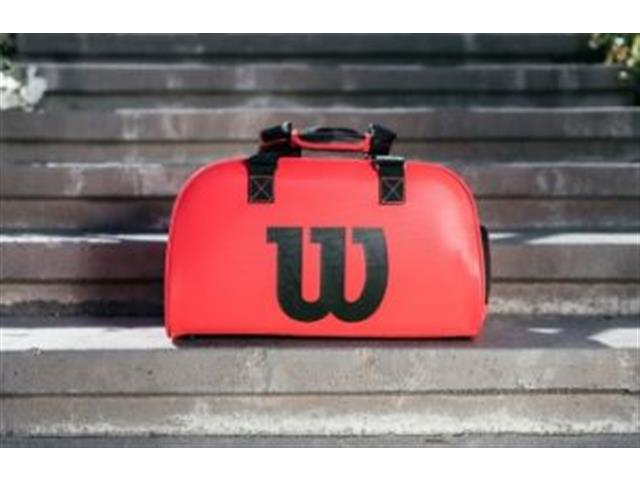 Bolsa Esportiva Wilson Duffel Pequena Vermelha - 3
