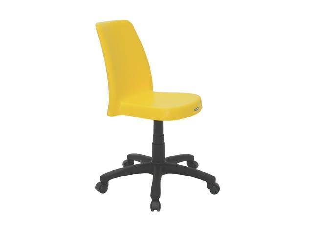 Cadeira Tramontina Vanda em Polipropileno com Base Rodízio Amarelo