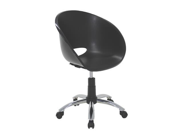 Cadeira Tramontina Elena Polipropileno e Rodízio em Aço Preta