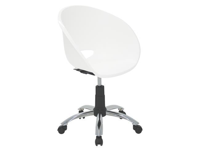 Cadeira Tramontina Elena Polipropileno e Rodízio em Aço Branca