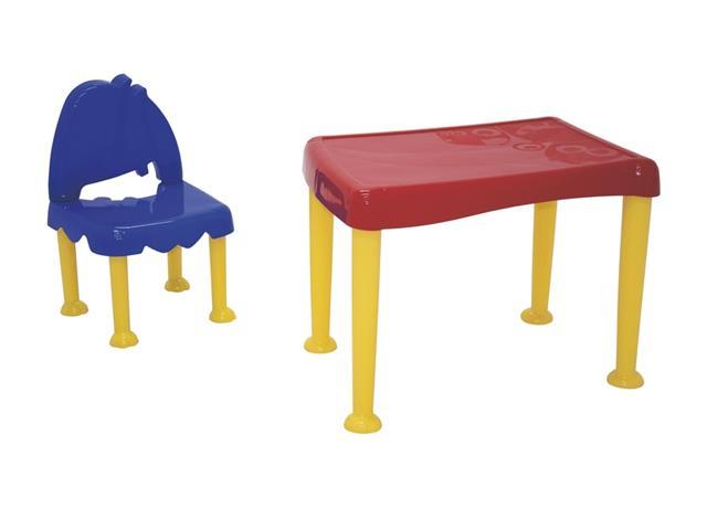 Conjunto Mesa e Cadeira Infantil Tramontina Monster Amarelo