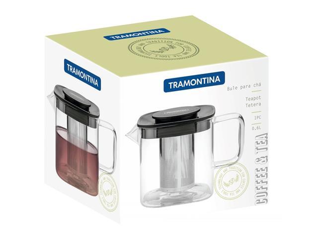Bule para Chá Tramontina em Vidro e Aço Inox com Infusor 600ML - 5