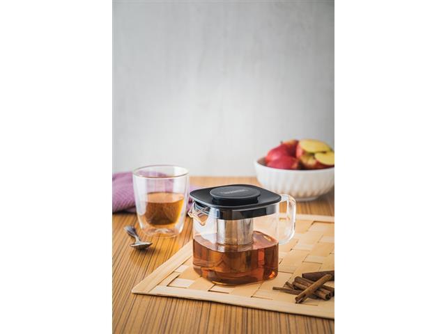 Bule para Chá Tramontina em Vidro e Aço Inox com Infusor 600ML - 3