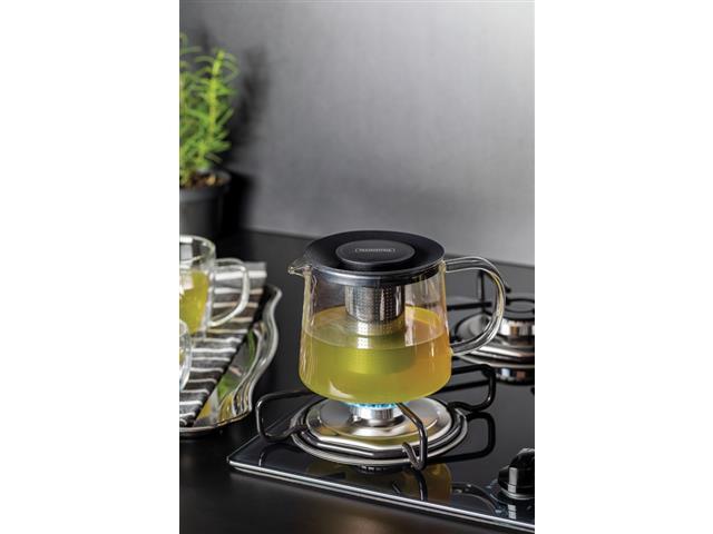 Bule para Chá Tramontina em Vidro e Aço Inox com Infusor 900ML - 2