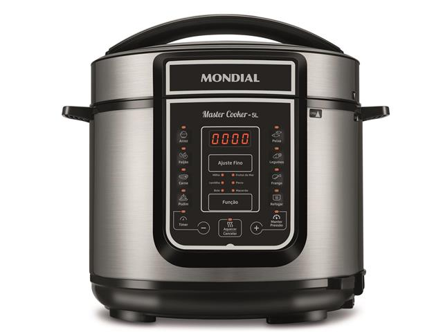 Panela de Pressão Elétrica Digital Mondial Master Cooker 5L Inox 220V