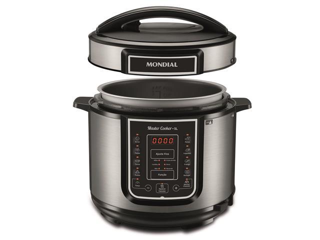 Panela de Pressão Elétrica Digital Mondial Master Cooker 5L Inox 220V - 1