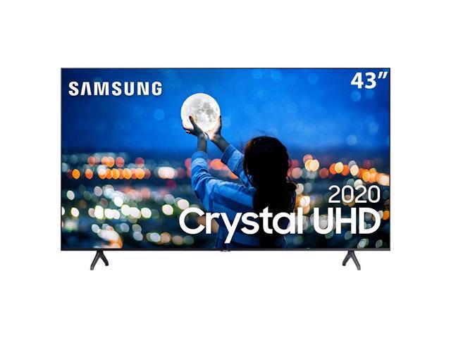 "Smart TV LED 43"" Samsung Tizen Crystal UHD 4K HDR10+ 2 HDMI 1USB Wi-Fi"