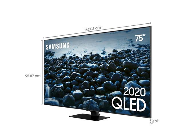 "Smart TV QLED 75"" Samsung Pontos Quânticos UHD 4K HDR 4HDMI Wi-Fi Q80T - 3"